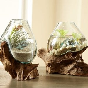 molten glass terrariums